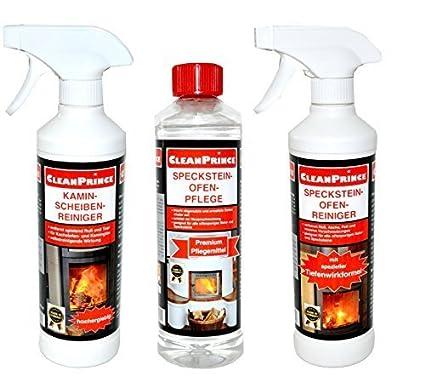 Idea para regalo Speck Piedra Horno Set De CleanPrince 3 Pieza Limpiador: 1 x Limpiador chimenea, ...