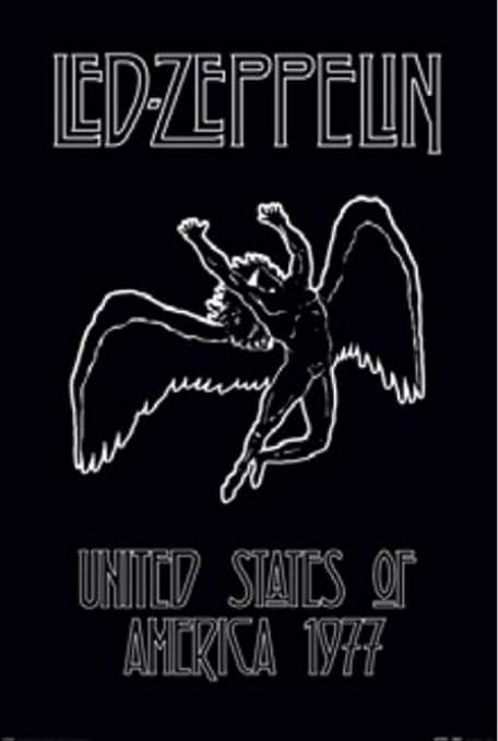 a475a088 Amazon.com: Pyramid America Led Zeppelin Icarus Album Rock Roll Band ...