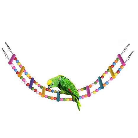 Ysoom - Escalera de Madera para Colgar pájaros, Juguete, Cadena de ...