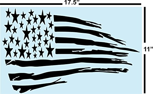 Best Primitive American Flag STENCIL for Painting Signs, Reusable, 14 mil