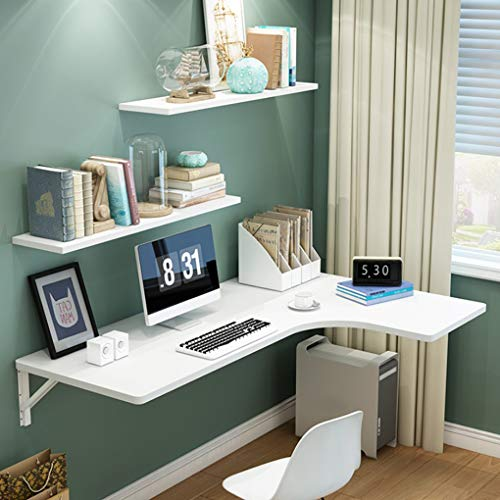 Mesa Plegable de Pared Mesa de esquina plegable montada en la pared, mesa de comedor de pared multifuncion Mesa de computadora plegable Mesa de aprendizaje Mesa de estudio, Ahorre espacio, Tamano op