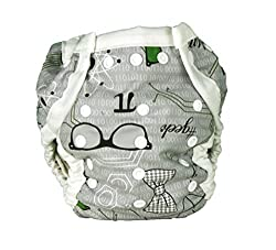 Snuggy Baby AI2 Diaper Cover - #Geek - Patent Pending Design Fits Newborn to Potty Training