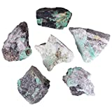 mookaitedecor Natural Raw Emerald Crystal Stone