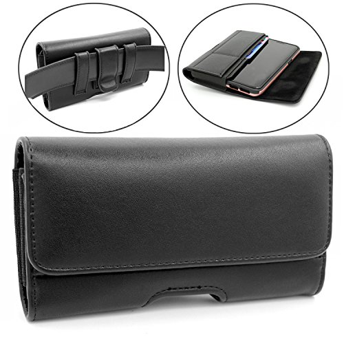 Samsung Galaxy S9 Case,Dlames Premium Leather Belt Clip Holster and Loops Carrying Case Cover Pouch with Card Holder for Samsung Galaxy S8 S9 (Fits with Hybrid Case/OtterBox Case)