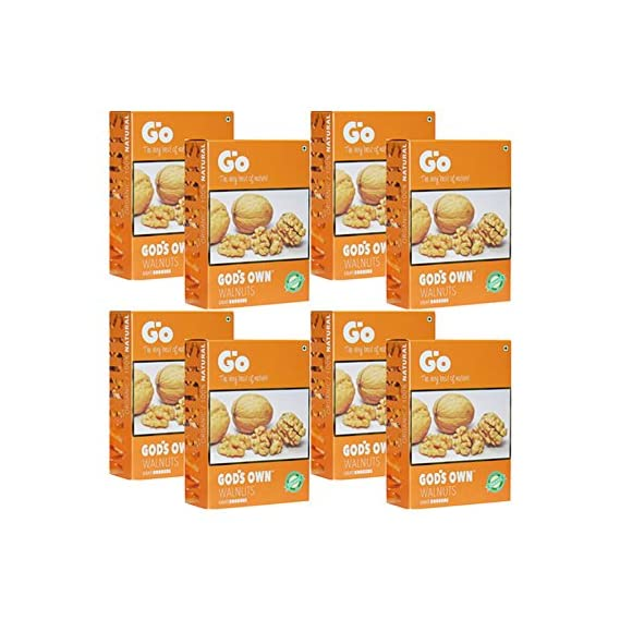 GO Organic Light Broken Walnuts (Akhrot Giri) 250 gm Pack of 8