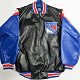 G-III New York Rangers Mens Large Full Zip Faux Leather for sale  Delivered anywhere in USA
