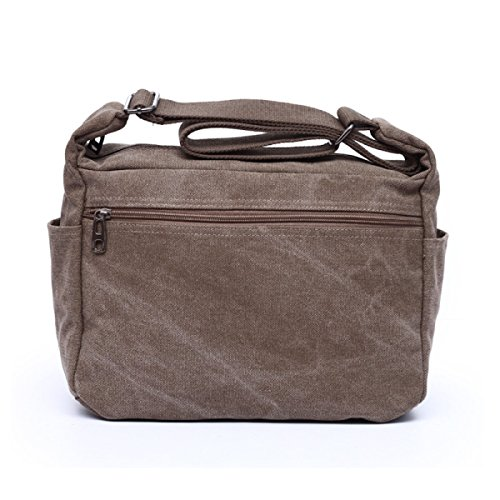 Retro Shoulder Multi Travel Beige Laidaye Business Bag Backpack purpose Leisure Purse Canvas 75wxApt
