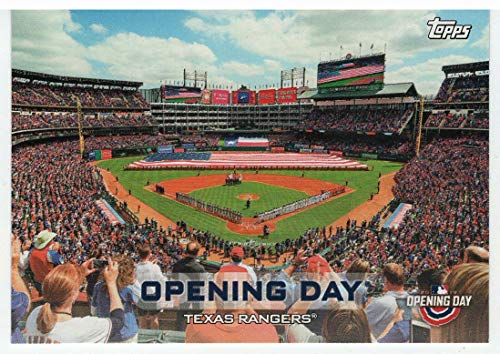 (Texas Rangers (Baseball Card) 2019 Topps Opening Day - Opening Day # ODB-TR Mint)