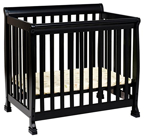 1 Mini Crib and Twin Bed In Ebony Finish (Ebony Metal Finish)