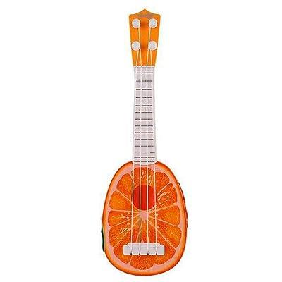MUDEREK Durable Multifunctional Cute Baby Ukulele Musical Toy Early Education Toy Jackets Orange: Clothing