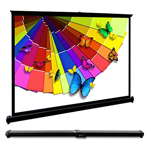 40 Inches Projector Screen Pull Down Screen 4:3 Compatible