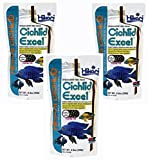 (3 Pack) Hikari 8.8-Ounce Cichlid Excel Floating Pellets for Pets, Medium