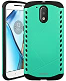 Moto G4 / G4 Plus Case, ACME.BOX [Shock Absorbent] Sheild Dual Layer Armor Hybrid Hard PC Defender Rugged Shockproof Protective Case for Motorola Moto G4 / G4 Plus - Mint