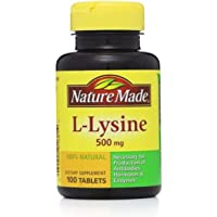 Nature Made L-Lysine 500 mg Tablets 100 ea (Pack of 2)