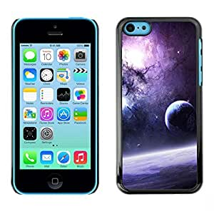 LASTONE PHONE CASE / Slim Protector Hard Shell Cover Case for Apple Iphone 5C / Galaxy Purple Sun Stars Moon Planets Dust Space by ruishername