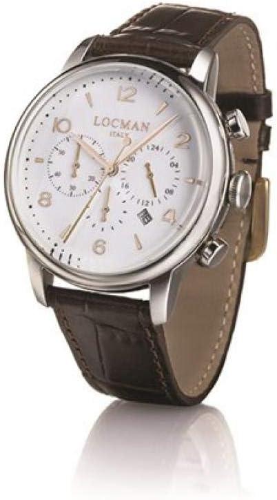 Locman cronografo acciaio quadrante panna 0254A05A-00AVNKPA
