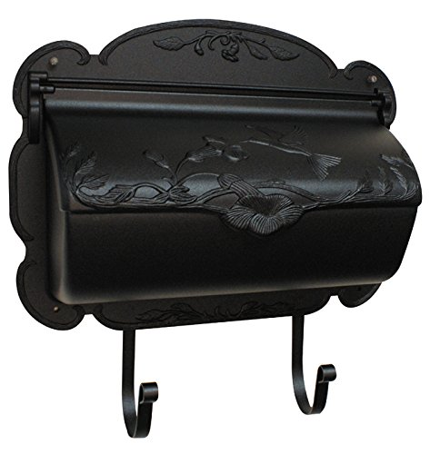 Mailbox Wall Blk (Special Lite Products SHB-1004-BLK Hummingbird Horizontal Mailbox, Black)
