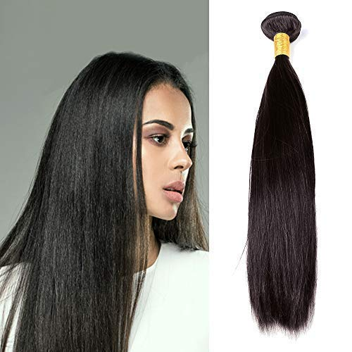 Straight 1 Bundle Deal 8A Real Virgin Raw Human Hair Unprocessed Natural Color (28 Inch) ()