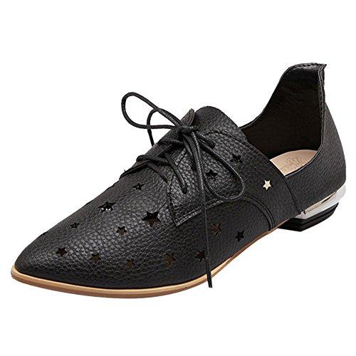 Coolcept Zapatos con Cordones para Mujer Black