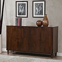 Dining Buffet 4-door Cabinet - Deep Tobacco Color - Rich and Refined -