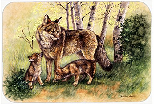 Carolines Treasures BDBA0115CMTWolf Wolves by Daphne Baxter Kitchen or Bath Mat Multicolor 20 H x 30 W