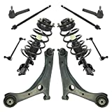Shock Strut w/Spring Tie Rod Control Arm Kit Set of 10 for Dodge Chrysler Van