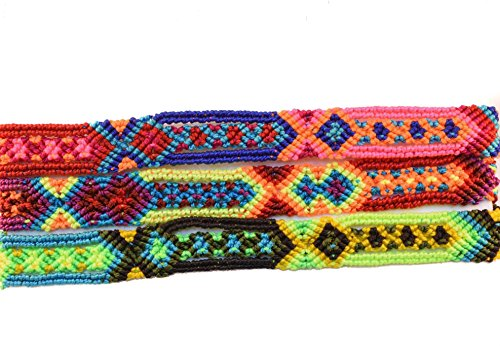 Green Mexican Bracelet - Tahal Bracelets Mexican Bohemian Friendship Bracelet Colorful and Handmade for Women 3 PCS