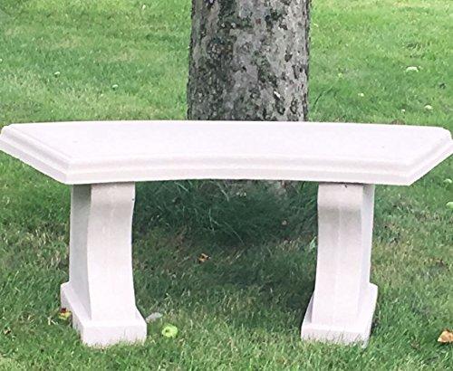 Small Curved Garden Bench - decorative cast stone-Portland