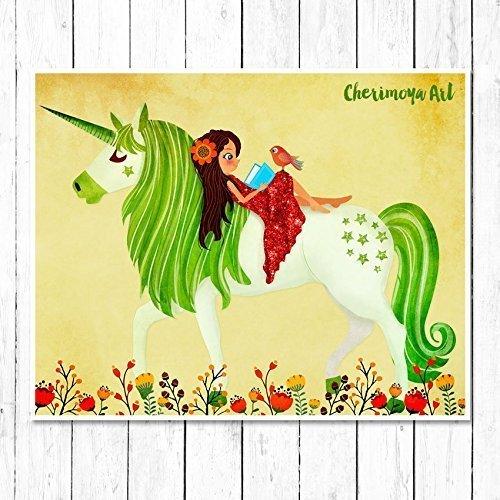 Amazon.com: Unicorn wall art for girls rooms - Unicorn Decor: Handmade