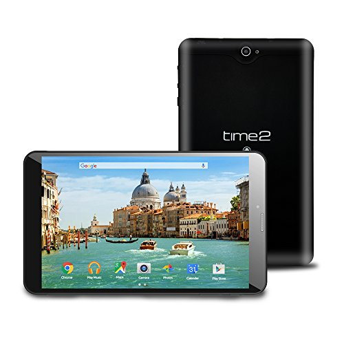 Time2: 8 inch Tablet PC, Android 7.0 Nougat, 3G Tablet Dual SIM, GMS Google...