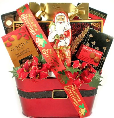Jolly Greetings Gourmet Food Gift Basket for the (Festive Treat Hamper)