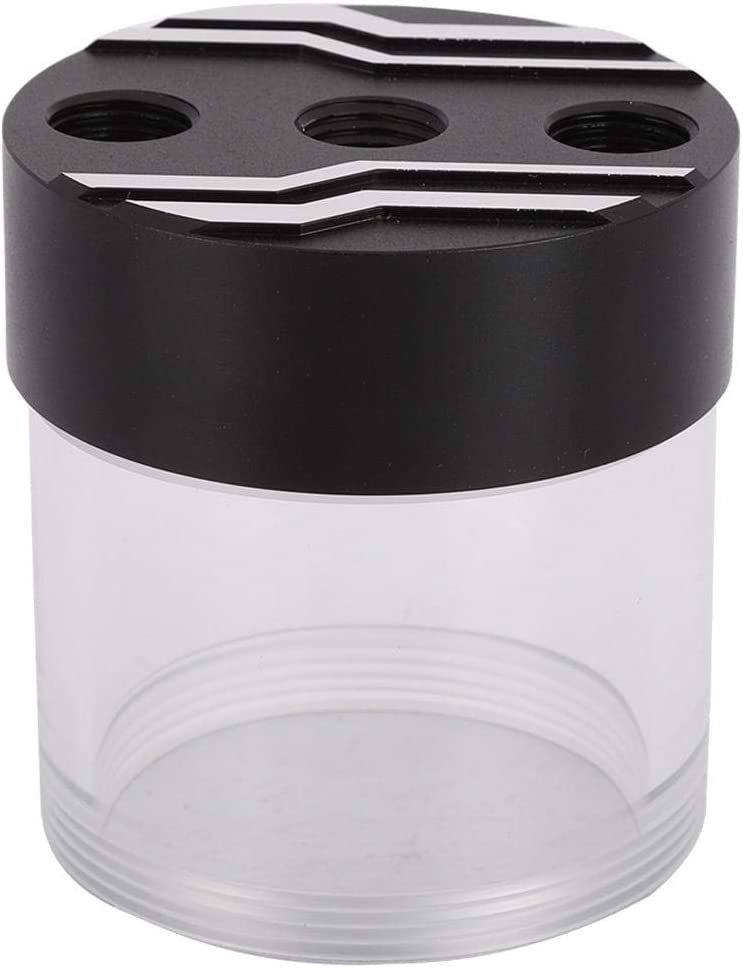 Built-in Defoamer Cooling Reservoir G1//4 Thread with Built-in Defoamer to Eliminate Air Bubbles in The Pipeline. Zopsc Integrated Computer Water Tank Black