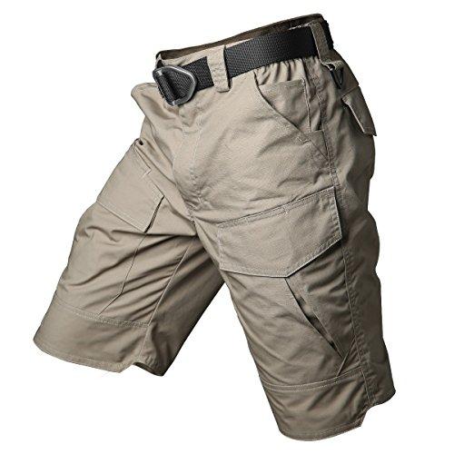 (ReFire Gear Men's Urban Tactical Military EDC Cargo Shorts Rip Stop Cotton Outdoor Camo Shorts)