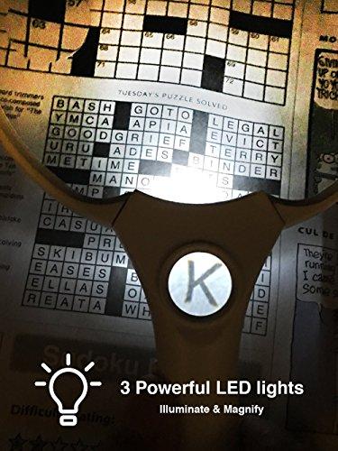 OpticSharp 5.5-Inch Handheld Magnifying Glass with LED ...