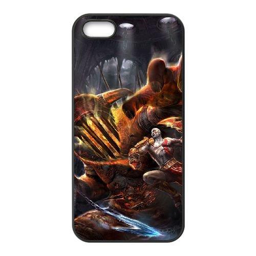 U1A88 God of War III T5X2DI coque iPhone 5 5s cellulaire cas de téléphone couvercle coque noire DH6FUR2UR