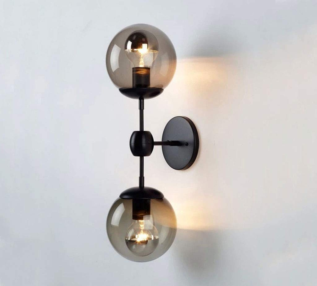 Wandleuchte Eisen Doppelglas magische Bohne Wandleuchte Indoor Hause Gang Flur Lampe Bekleidungsgeschäft Cafe Bar Internet Cafe Dekoration Lampe E27