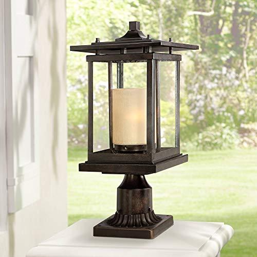 Foxmoore Modern Outdoor Post Light Bronze Pagoda 17