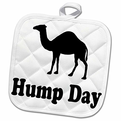 3dRose EvaDane - Funny Quotes - Hump Day - 8x8 Potholder (phl_159637_1)