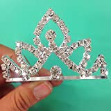 NEW Rhinestone Princess Small Tiara 001 / Princesses Theme Party / Cupcake Cake Topper / Flat Tiara 1.25