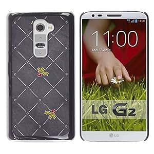 Planetar® ( Grey Mistletoe Christmas Love ) LG G2 / D800 D801 D802 D803 VS980 LS980 Fundas Cover Cubre Hard Case Cover
