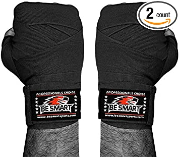 Cotton Boxing Hand Wraps Bandages Fist Boxing Inner Gloves Mitts MMA 3.5m Pair