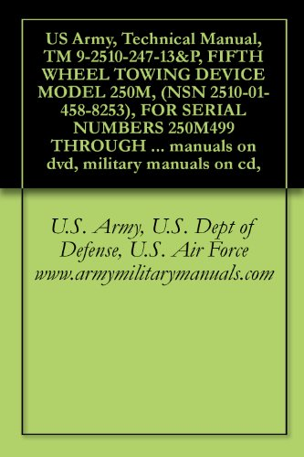 US Army, Technical Manual, TM 9-2510-247-13&P, FIFTH WHEEL TOWING DEVICE MODEL 250M, (NSN 2510-01-458-8253), FOR SERIAL NUMBERS 250M499 THROUGH 200M999, ... manuals on dvd, military manuals on - Manual 2510