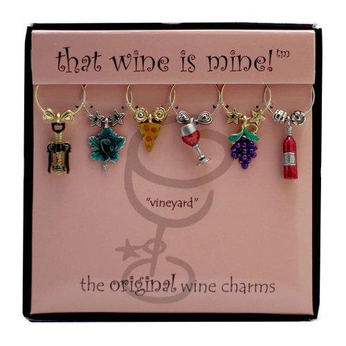 Wine Things WT-1425P Vineyard Wine Charms, Painted by Wine Things