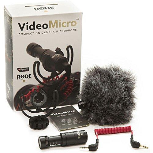 Microphone intégré Rode VideoMicro Compact avec monture de suspension Rycote Lyre