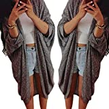Lowpricenice(TM)Womens Lady Casual Knit Sleeve Sweater Coat Cardigan Jacket
