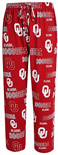 Oklahoma Sooners Men's Crimson Sweep Pajama Pants by Concepts Sports (S=30-31) (Pajama Pants Sooners Lounge)