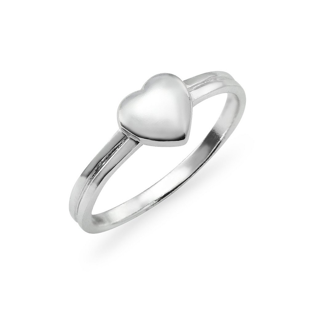 Sterling Silver Puffed Heart Promise Ring Size 9