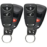 KeylessOption Keyless Entry Remote Control Car Key Fob with Strap Replacement for Tucson OSLOKA-850T (Pack of 2)