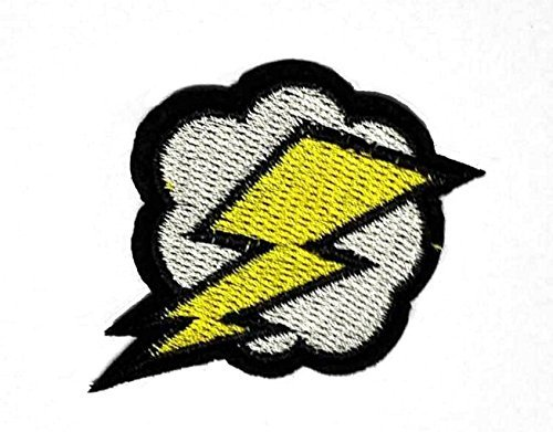 Lightning And Storms Patches Of Applique Embroidered Patches   Iron On Patches By 3A1y