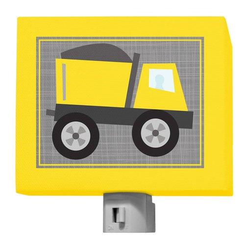 Oopsy Daisy Ways to Wheel Dump Truck Night Light, Yellow, 5